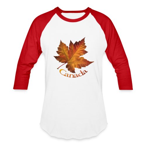 Baseball T-Shirt - Women's Canada Hoodies Canada Maple Leaf Souvenir Women's Hooded Sweatshirts Ladies & Girls Souvenir Canada Shirt Beautiful Autumn Maple Leaf Canada Souvenir Hoodies for Women & Girls Design by Canadian Artist / Designer www.kimhunter.ca