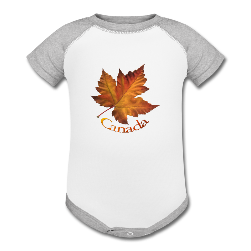 Baby Contrast One Piece - Women's Canada Hoodies Canada Maple Leaf Souvenir Women's Hooded Sweatshirts Ladies & Girls Souvenir Canada Shirt Beautiful Autumn Maple Leaf Canada Souvenir Hoodies for Women & Girls Design by Canadian Artist / Designer www.kimhunter.ca