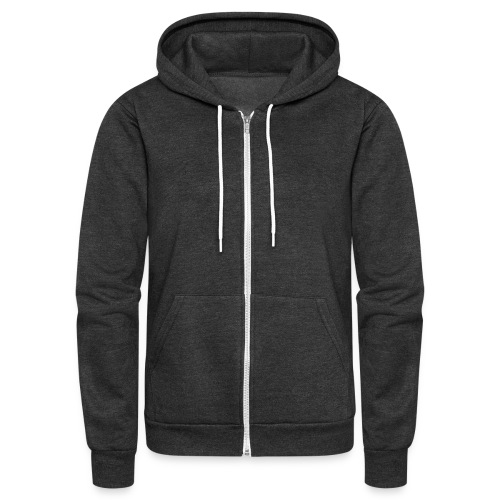 website on back - Unisex Fleece Zip Hoodie