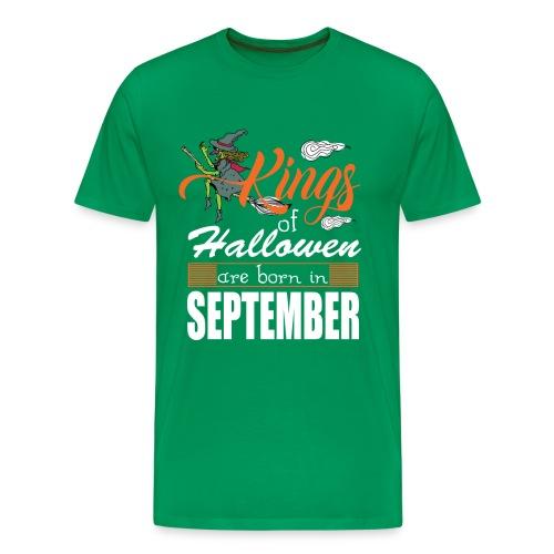 Halloween Kings Are Born In September - Men's Premium T-Shirt