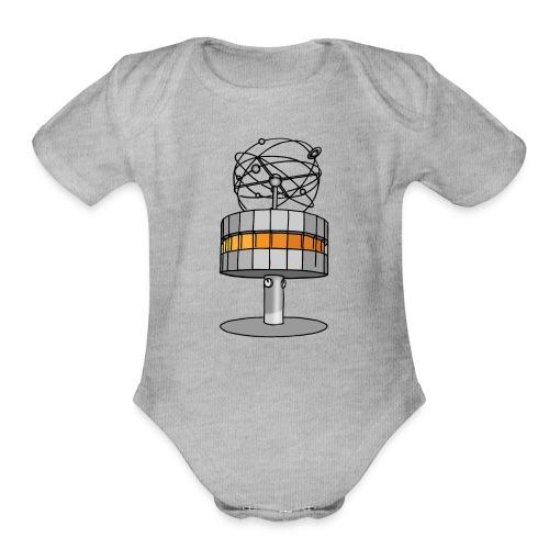 World time clock Berlin c - Organic Short Sleeve Baby Bodysuit