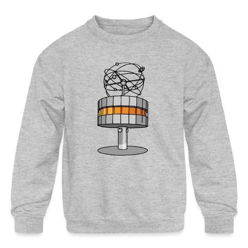 World time clock Berlin c - Kids' Crewneck Sweatshirt