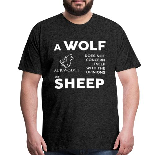 Men's T-Shirt - A wold does not ... - Men's Premium T-Shirt