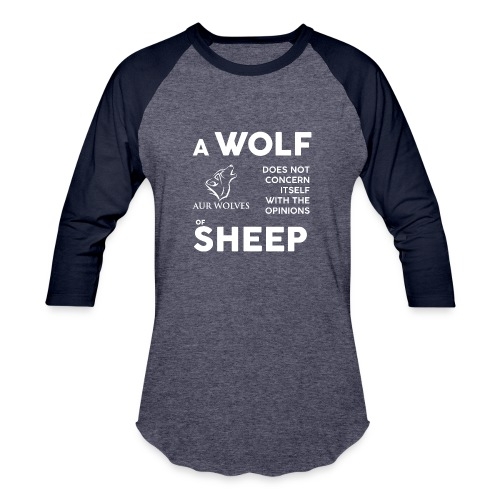 Gents Baseball Shirt - the opinions of Sheep - Baseball T-Shirt