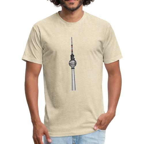 TV-Tower Berlin c - Fitted Cotton/Poly T-Shirt by Next Level