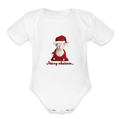 Merry whatever - Organic Short Sleeve Baby Bodysuit