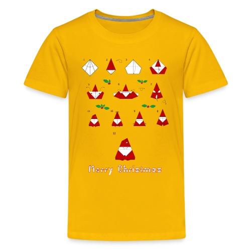 Origami Santa - Kids' Premium T-Shirt