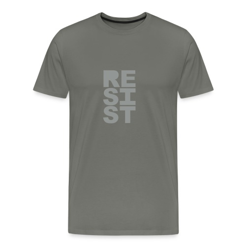 * RESIST vertical solid * (velveteen.print)  - Men's Premium T-Shirt