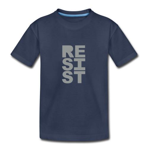 * RESIST vertical solid * (velveteen.print)  - Kids' Premium T-Shirt