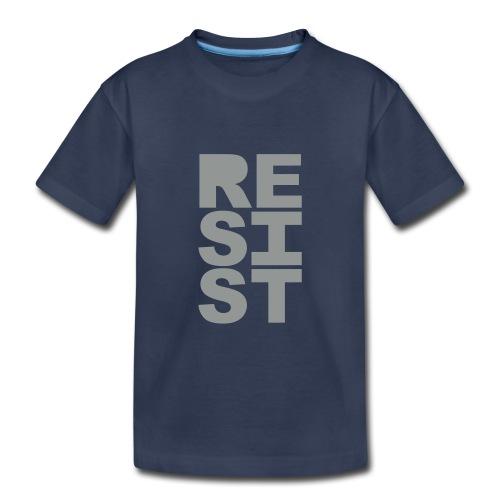 * RESIST vertical solid * (velveteen.print)  - T-shirt premium pour enfants
