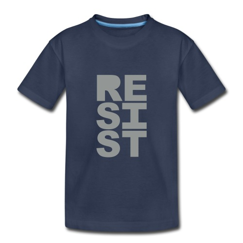 * RESIST vertical solid * (velveteen.print)  - Toddler Premium T-Shirt
