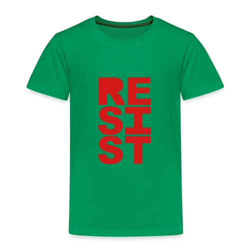 * RESIST vertical solid * - Toddler Premium T-Shirt