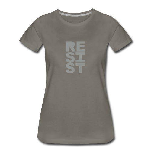 * RESIST vertical solid * (velveteen.print)  - Women's Premium T-Shirt