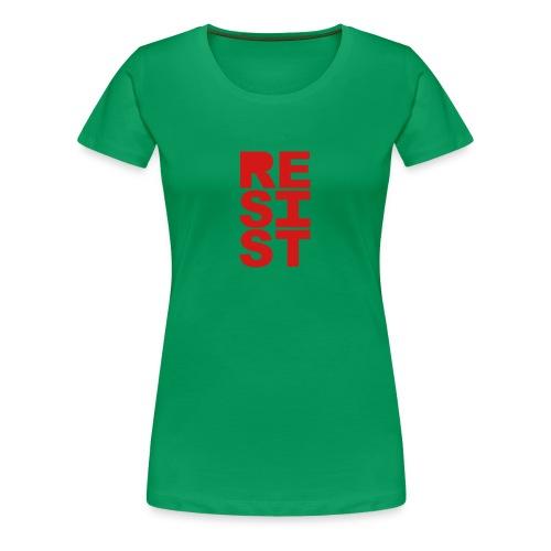 * RESIST vertical solid *  - Women's Premium T-Shirt