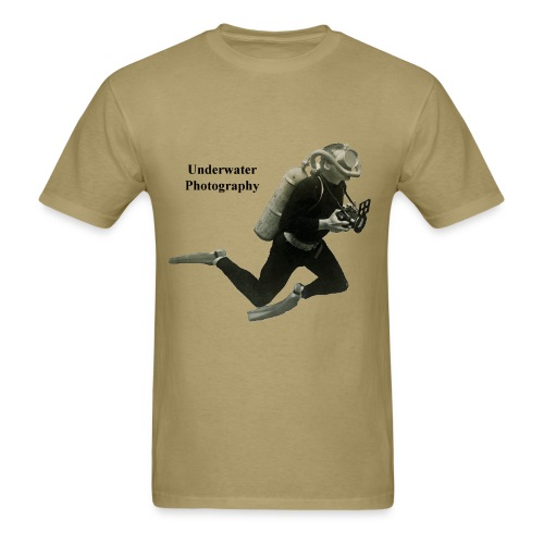 Vintage Underwater Photographer Diver with Camera - Men's T-Shirt