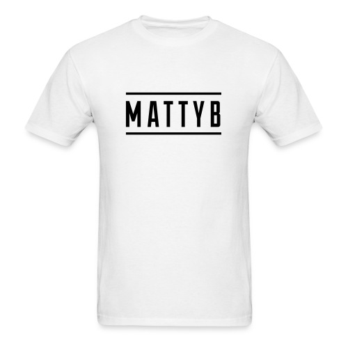 Adult White MattyB Logo - Men's T-Shirt