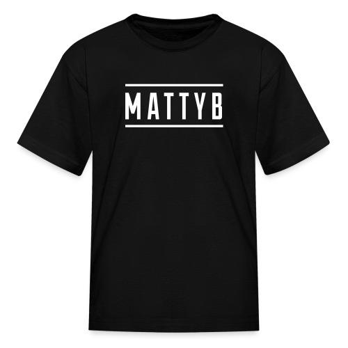 Kids Black MattyB Logo - Kids' T-Shirt