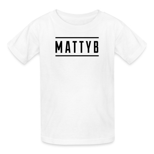 Kids White MattyB Logo - Kids' T-Shirt