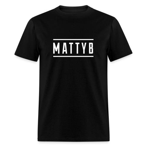 Adult Black MattyB Logo - Men's T-Shirt