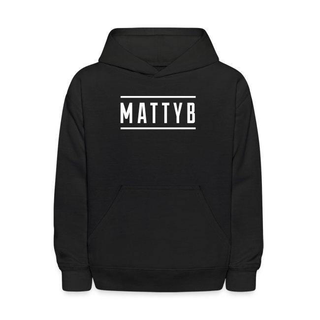 Kids Black MattyB Logo Hoodie