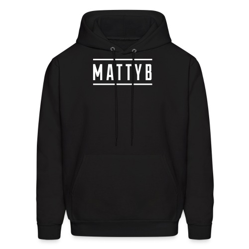 Adult Black MattyB Logo Hoodie - Men's Hoodie
