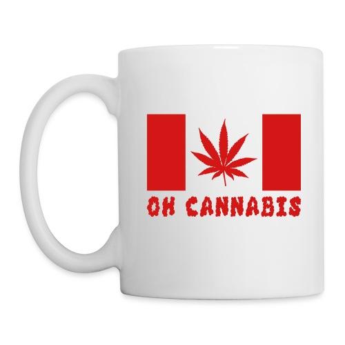 Oh Cannabis Canada Flag Printed Coffee Mug - Coffee/Tea Mug