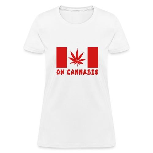 Oh Cannabis Canada Flag Men's T-shirts - Women's T-Shirt
