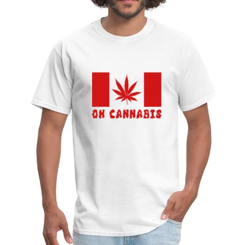 Oh Cannabis Canada Flag Men's T-shirts - Men's T-Shirt