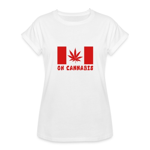 Oh Cannabis Canada Flag Women's Relaxed Fit T-shirts - Women's Relaxed Fit T-Shirt