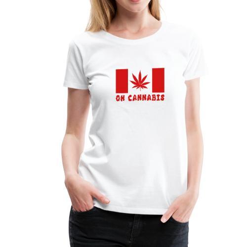 Oh Cannabis Canada Flag Women's Premium T-shirts - Women's Premium T-Shirt