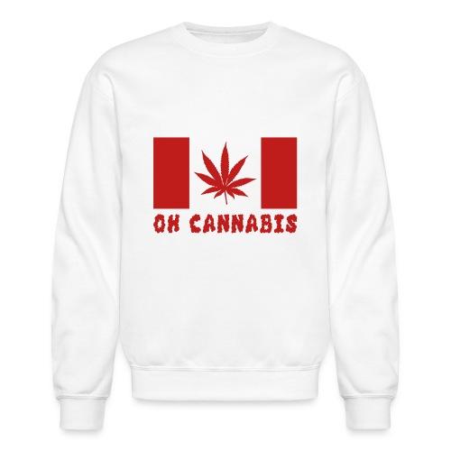 Oh Cannabis Canada Flag Crewneck Sweatshirt - Crewneck Sweatshirt
