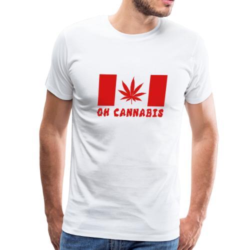 Oh Cannabis Canada Flag Men's Premium T-shirts - Men's Premium T-Shirt