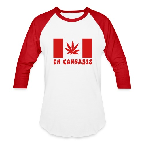 Oh Cannabis Canada Flag Unisex Long Sleeve Baseball T-shirts - Baseball T-Shirt