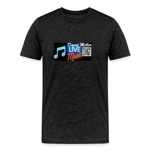 David Miller Live Music Black T-Shirt - Men's Premium T-Shirt