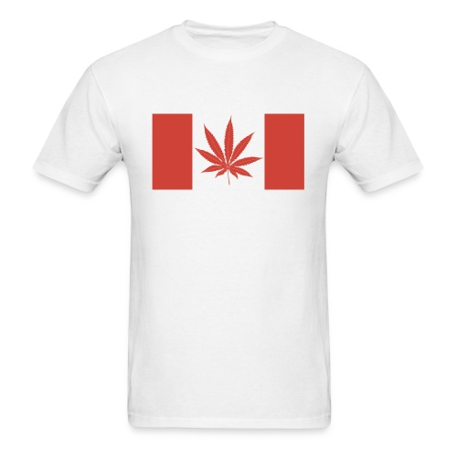 Canadian pot flag - Men's T-Shirt