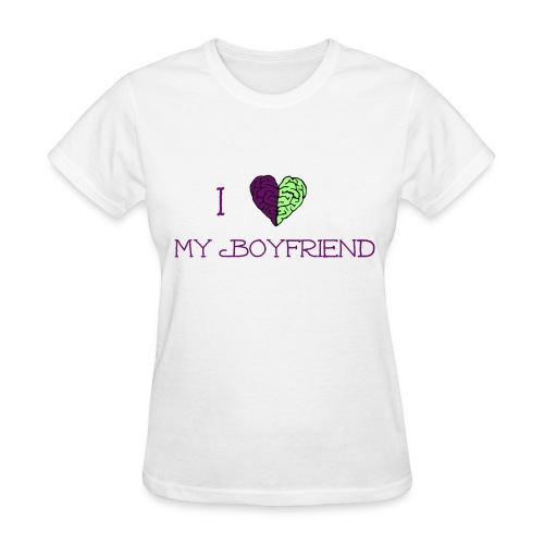 Women's I Love My Boyfriend Tee - Women's T-Shirt