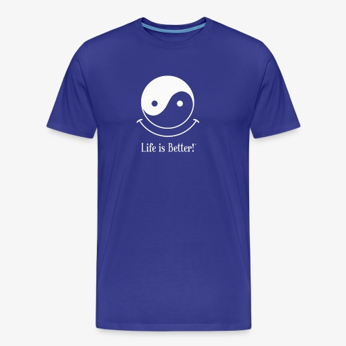 Life is Better!® - Yin Yang with a smile - Men's Premium T-Shirt