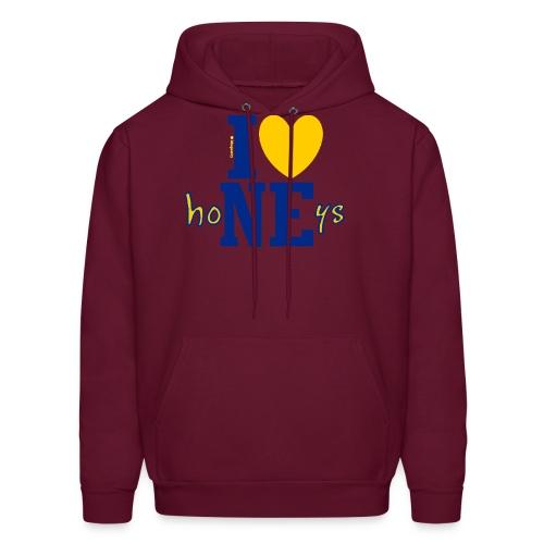 I ❤ Nebraska Honeys - Corn High as Sky - for darker items - Men's Hoodie