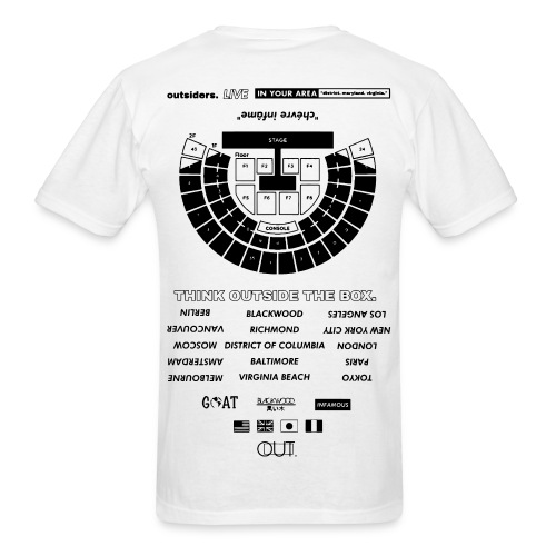 OUTSIDERS. LIVE - Men's T-Shirt