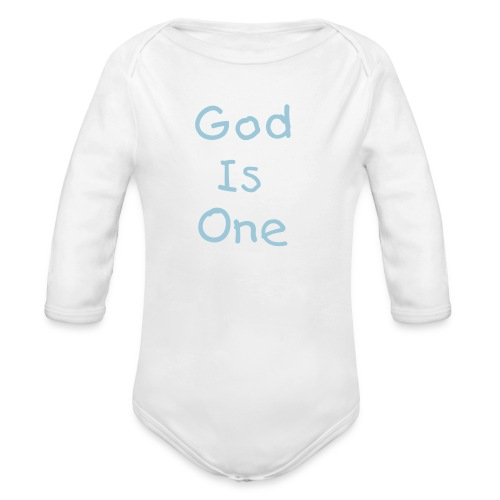 God Is One - Organic Long Sleeve Baby Bodysuit