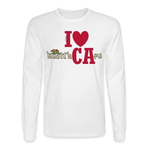 I ❤ California Healthcare - Level Bear - Men's Long Sleeve T-Shirt