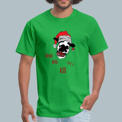 Funny Rude Cow Ugly Christmas Sweater-Funny Xmas Tee - Men's T-Shirt