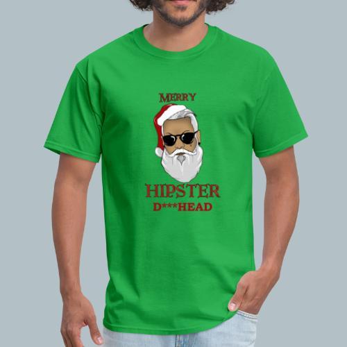 Funny Rude Santa Ugly Christmas Sweater-Funny Xmas Tee - Men's T-Shirt