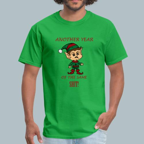 Funny Rude Elf Ugly Christmas Sweater-Funny Xmas - Men's T-Shirt