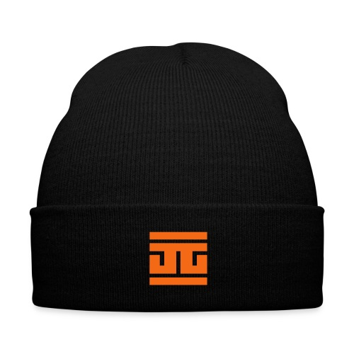 LAMINATED - Orange - Knit Cap with Cuff Print