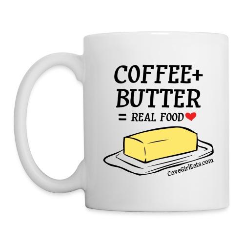 Coffee + Butter = Real Food Love Mug (1-SIDED) - Coffee/Tea Mug