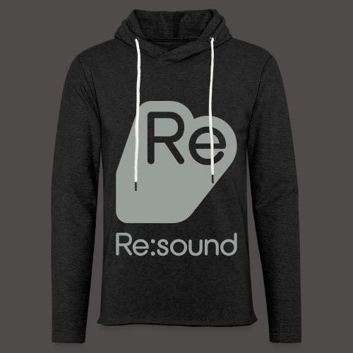 Re:Sound Music - Lightweight Hoodie - Grey / Grey - Unisex Lightweight Terry Hoodie