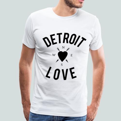 N S E W Detroit Love - Men's Premium T-Shirt