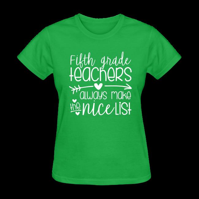 Fifth Grade Teachers Always Make the Nice List