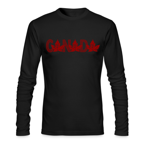 Canada Baseball Jersey B & W Canada Souvenir Shirts - Men's Long Sleeve T-Shirt by Next Level